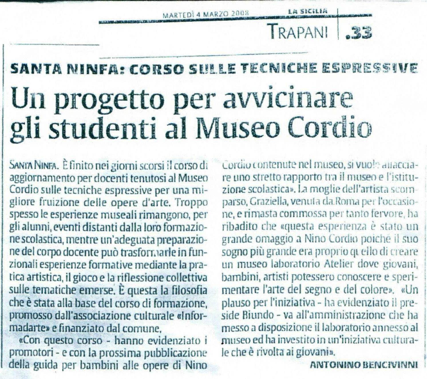 corso insegnanti per Museo Cordio Santa Ninfa (TP) 2008 (3)